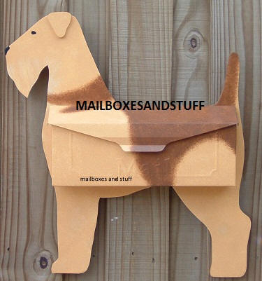 Airedale Terrier Wall mount mailbox