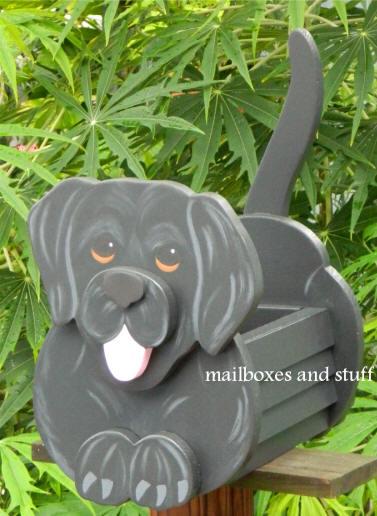 Whimsical Dog Planter Boxes