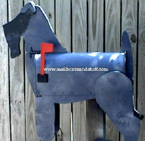 Kerry Blue Terrier mailbox