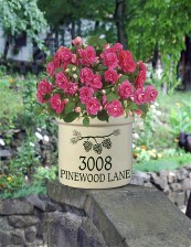 Personalized address crock perfect fpr porches, gardens , welcoming your guests. Persoanlized crocks make GREAT housewarming goifts, wedding gifts or anniversary gifts