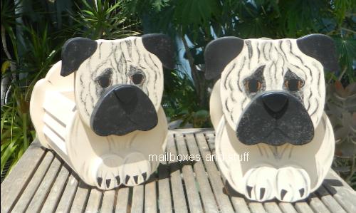 Pug Mailbox Novelty Dog Mailboxes