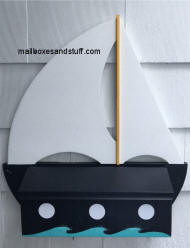 sailboat wall mount mailbox