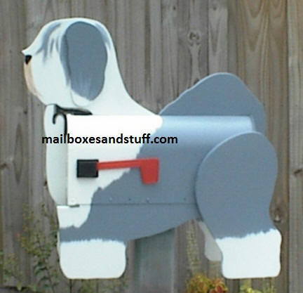Sheep Dog mailbox