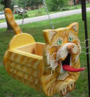 hanging cat planter, cat birdhouses and cast birdhouses