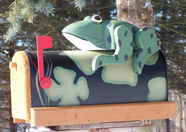Frog Mailbox Woodendipity