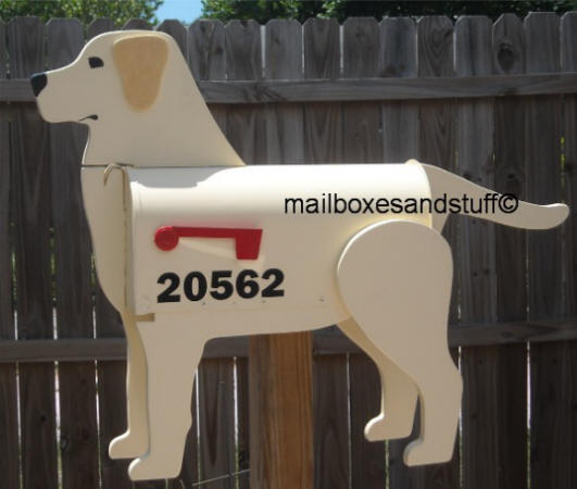 Labrador Retriever mailbox, Yellow Lab, dog mailboxes