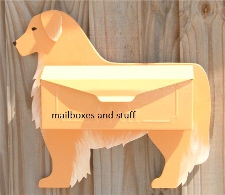 Golden Retriever Mailbox By Mailboxes And Stuff