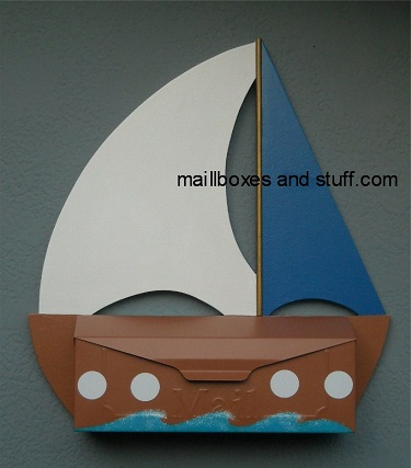 Sailboat mailboxes nautical mailboxes for Boat mailbox
