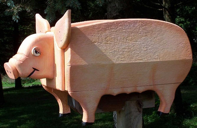 Farm Pig Mailboxes Flying Pig Mailbox