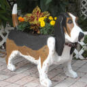 Woodendipity Basset Hound Planter Box