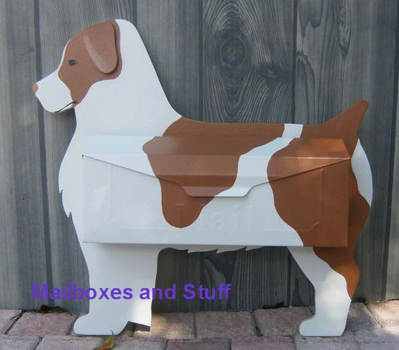 Brittany Spaniel Mailbox By Mailboxes And Stuff