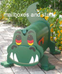 Whimsical Crocodile mailbox