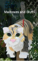 "custom painted cat mailbox ""Lily"""