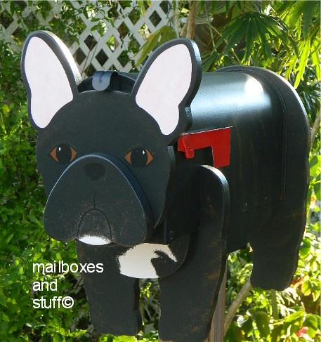 French Bulldog Mailbox By Mailboxes And Stuff
