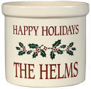 Happy Holidays Personalized Crock