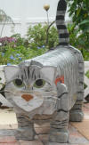 Cat Mailbox custom painted like Mystic