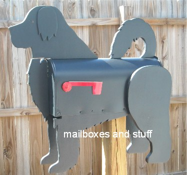 Portuguese Water Dog mailbox