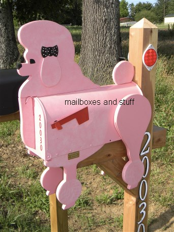 Show Poodle Mailbox , Pink Poodle , perfect for Groomers