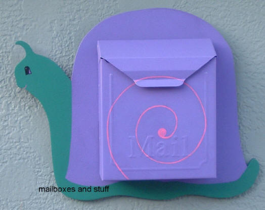 Wall mounted Snail Mailbox. Locking mailbox, select your colors