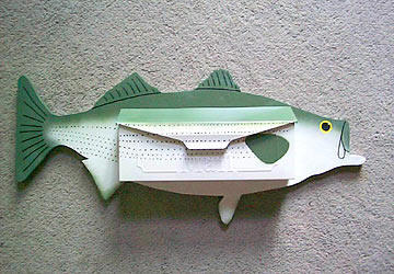 Striped Bass wall mount mailbox