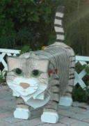 Tawny Cat .. previously known as Rusty cat mailbox
