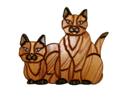 Siamese Cats(WN-123) - Click Image to Close