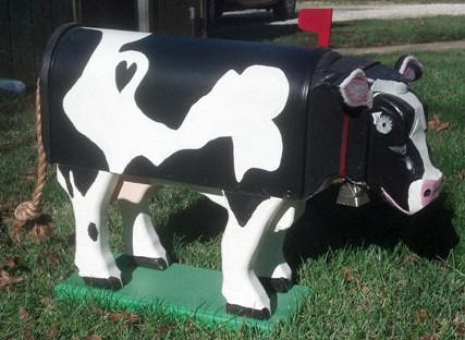 Cow Mailbox Woodendipity