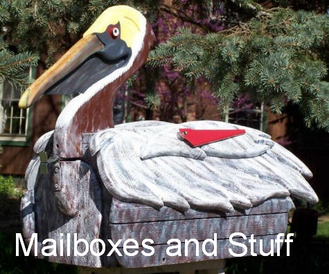 Woodendipity Pelican Mailbox