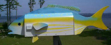 Yellow Tail Snapper mailbox
