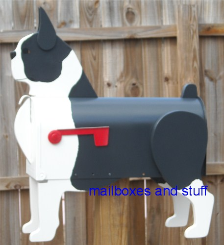 Boston Terrier Mailbox .. standard painting option