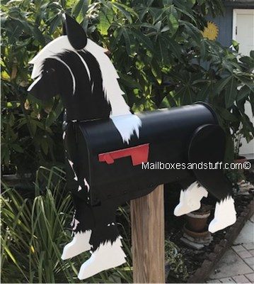 Custom Painted Chinese Crested Dog mailbox