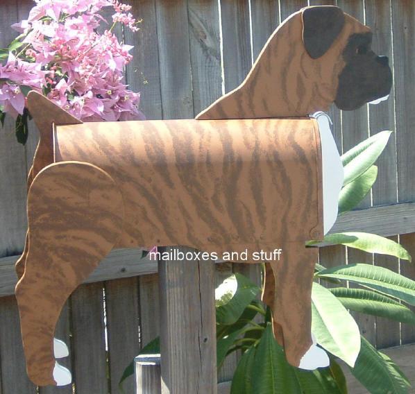Boxer Dog Mailbox Natural Or Cropped Ear Mailbox Shaped