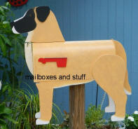 "custom made and painted MUTT mailbox  ""Lil Bear"""