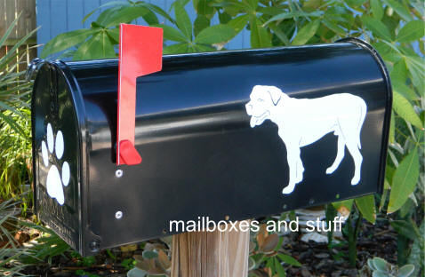 Mastiff graphic mailbox