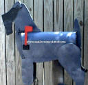Kerry Blue Terrier Mailbox, dog mailbox