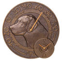 Labrador Retriever Clock and Thermometer combo