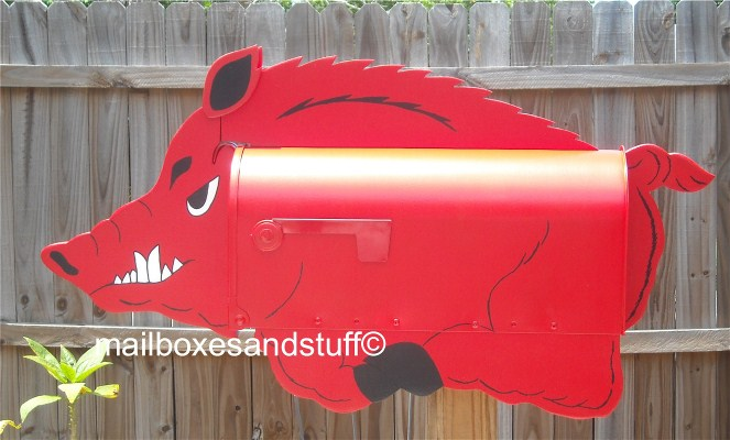 Arkansas Razorback Hog Mailbox