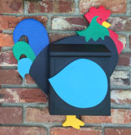 Rooster Wall mount mailbox